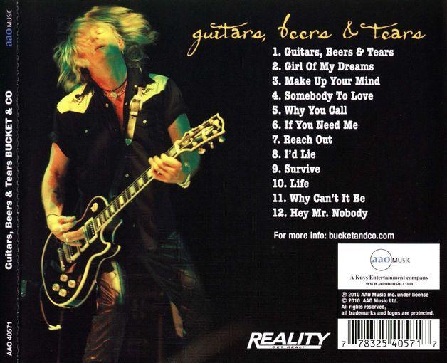 BUCKET & Co. - Guitars, Beers & Tears (retail) back