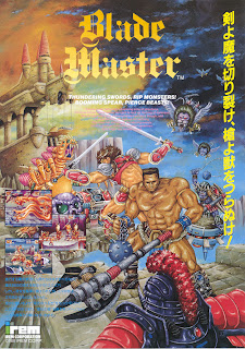 Blade Master arcade game portable flyer art retro