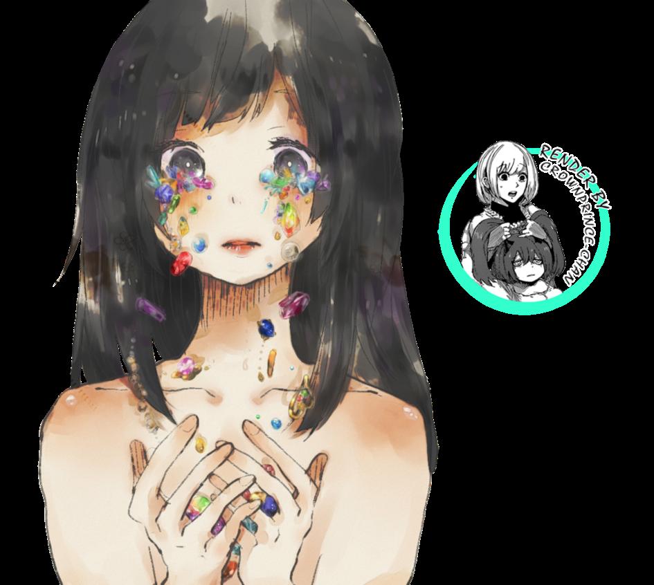 render Girl And Gemstones