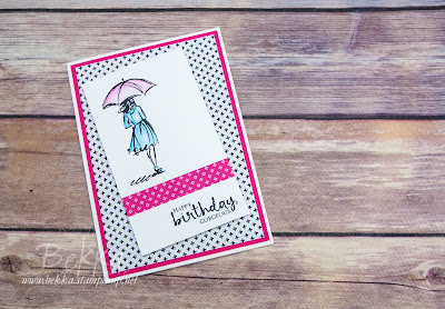 April Showers Beautiful You Birthday Card - buy everything to make this card here
