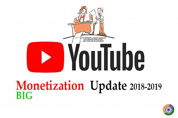 Youtube Monetization Update 2018-