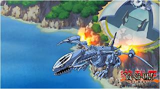 Jet privado de Seto Kaiba, despegando rumbo al reino de los duelistas