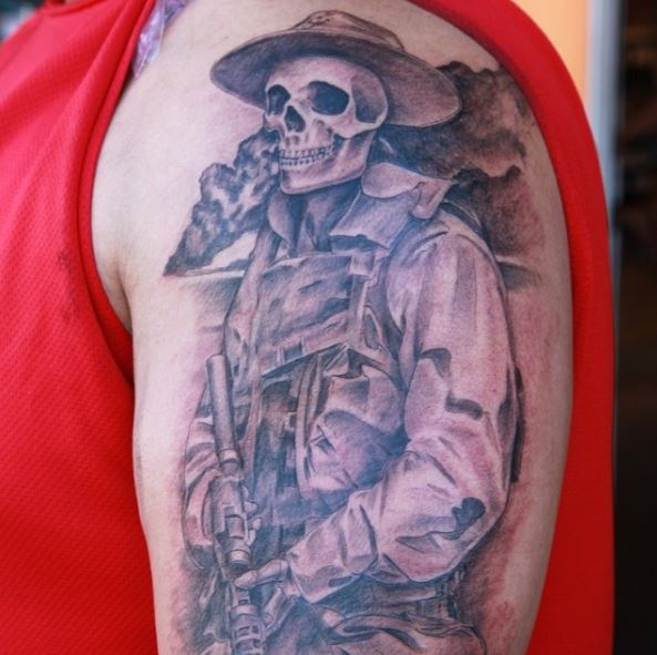 50 patriotic united states marine corps tattoos ideas for Usmc sleeve tattoo ideas