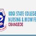 Kogi State School Of Nursing, Obangede 2017/18 Entrance Exam Date Out