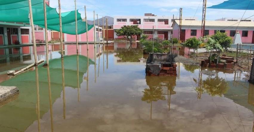 ÁNCASH: Filtraciones de agua provocan colapso de cerco perimétrico de colegio N°86625 en el centro poblado de Aura - Yungay