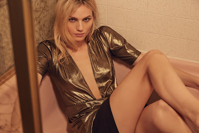 Andreja Pejic for Reformation's holiday 2016 campaign. Photo: Reformation