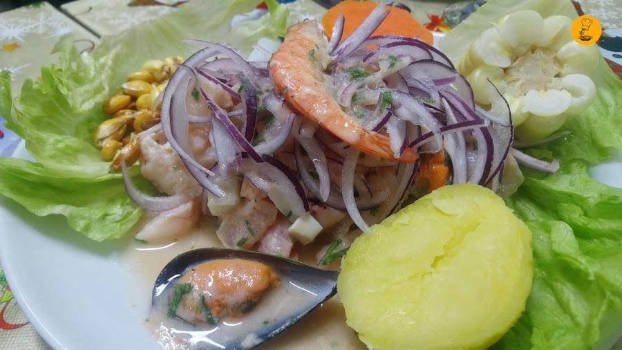 Ceviche mixto en Norky´s Vallecas, cocina peruana Vallecas, restaurantes peruanos Vallecas, Norky´s Sierra de Cameros