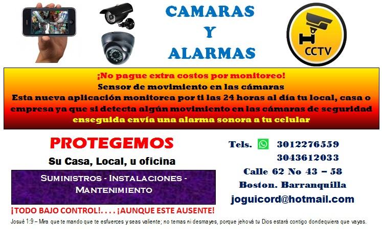 Camaras de seguridad y alarmas en Barranquilla