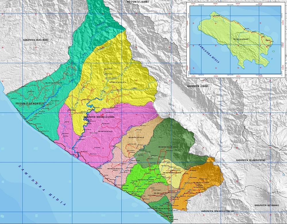 Peta Bengkulu Utara