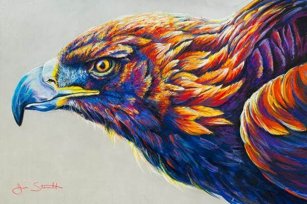 09-Golden-Eagle-Large-Scale-Soft-Pastel-Drawings-Of-Wild-Ainimals-www-designstack-co