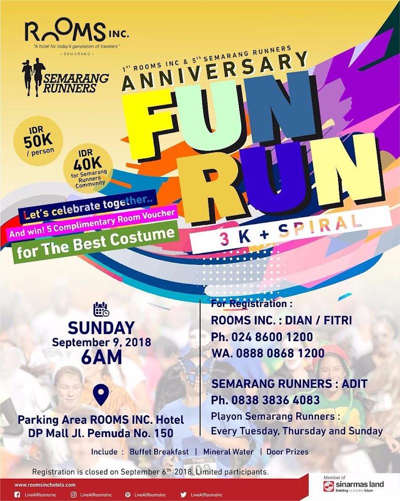 Rooms Inc & Semarang Runners Anniversary - Fun Run • 2018