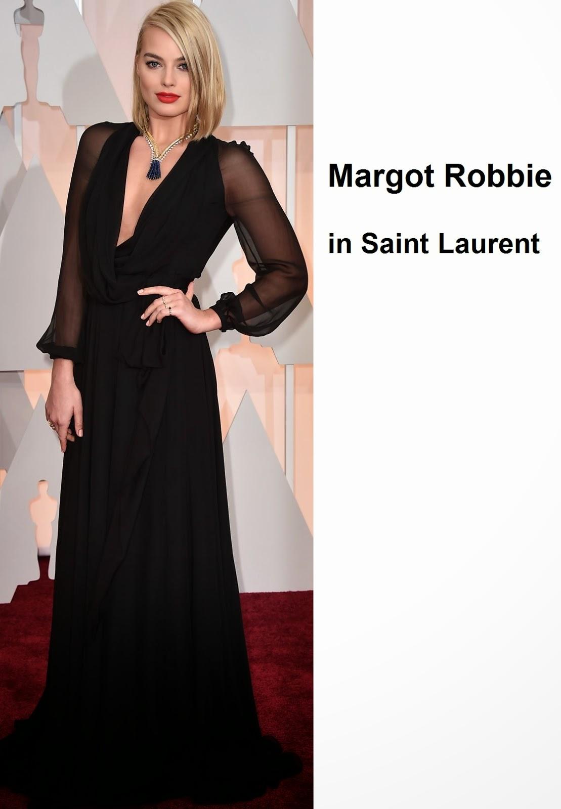 Margot%2BRobbie%2Bin%2BSaint%2BLaurent - Look Óscares 2015