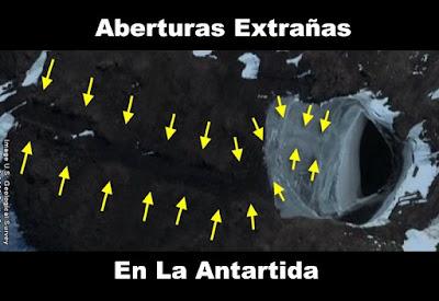 Resultado de imagen de dos entradas extrañas en la Antártida