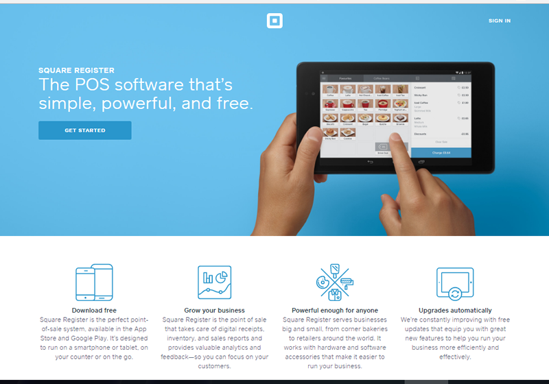 Square let you get paid faster, record payments and track sales info