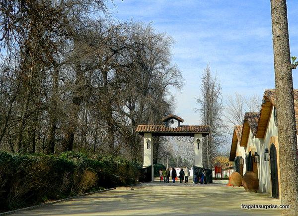 Entrada da Vinícola Concha e Toro, nos arredores de Santiago do Chile