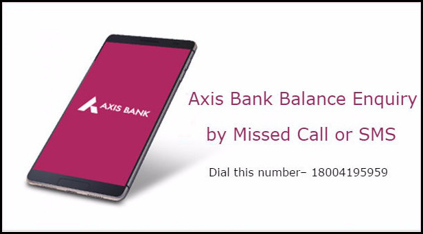 Know Axis Bank Missed Call inquiry numbers for Balance Enquiry and Mini Statement