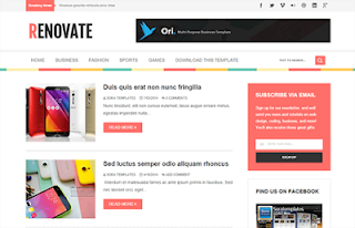 Renovate Blogger Template