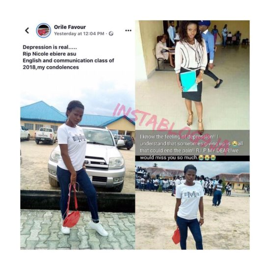 Friends Mourn As FUO Graduate Commits Suicide Ahead Of Her NYSC