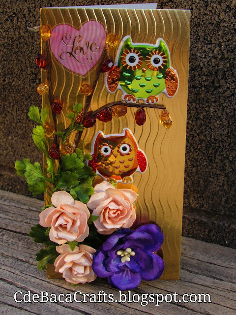 Handmade Cards with Owls, Hearts, and Flowers Blog for Inspiration and Ideas by CdeBaca Crafts.