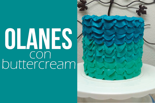 Olanes con buttercream