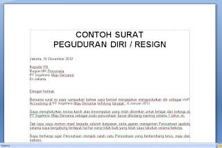 .doc CONTOH SURAT PENGUNDURAN DIRI / RESIGN | CARA ...