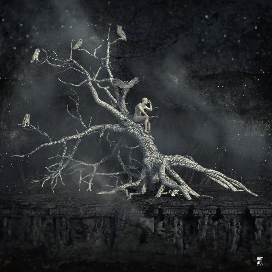 07-Memory-Tree-Max-Mitenkov-Surreal-Art-that-Transports-you-Faraway-www-designstack-co