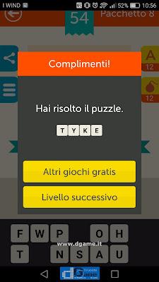 Mega Quiz soluzione pacchetto 8 livelli 54-60