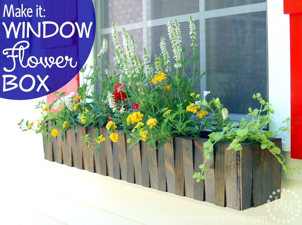 make it window flower box the scrap shoppe. Black Bedroom Furniture Sets. Home Design Ideas