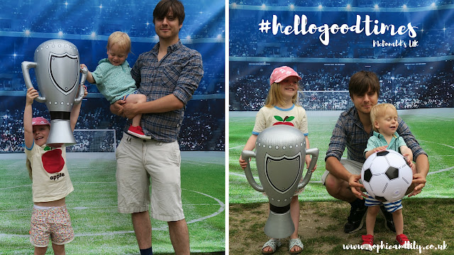 #hellogoodtimes stadium photo backdrop for a Twitter competition