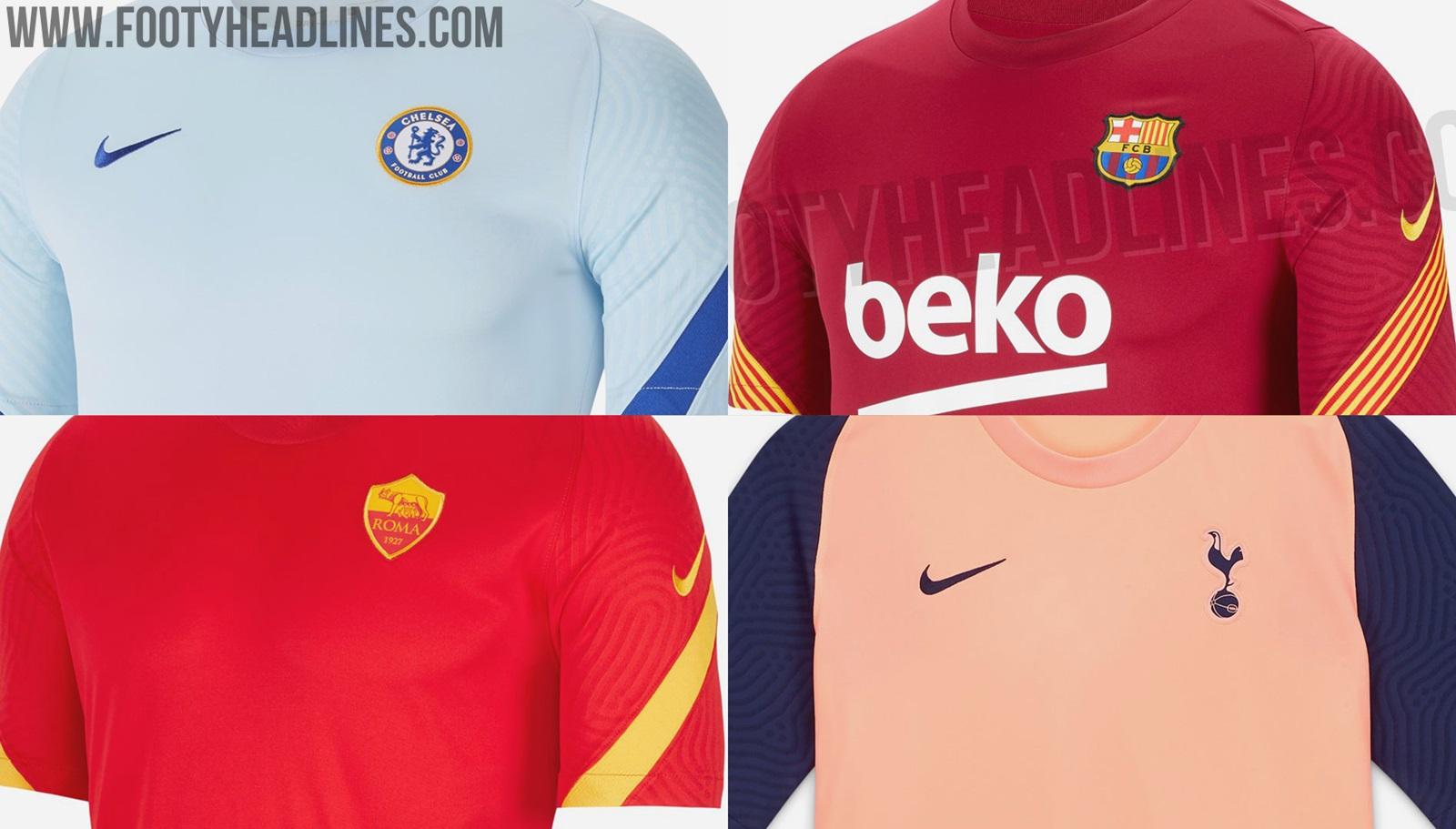No Liverpool Leak Yet All Leaked Nike 2020 21 Club Training Kits Barcelona Psg Chelsea Others Footy Headlines