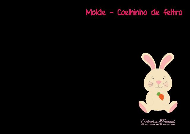 Atelie Cores E Panos Blog Oficial Coelhinho Em Feltro Pap E Molde