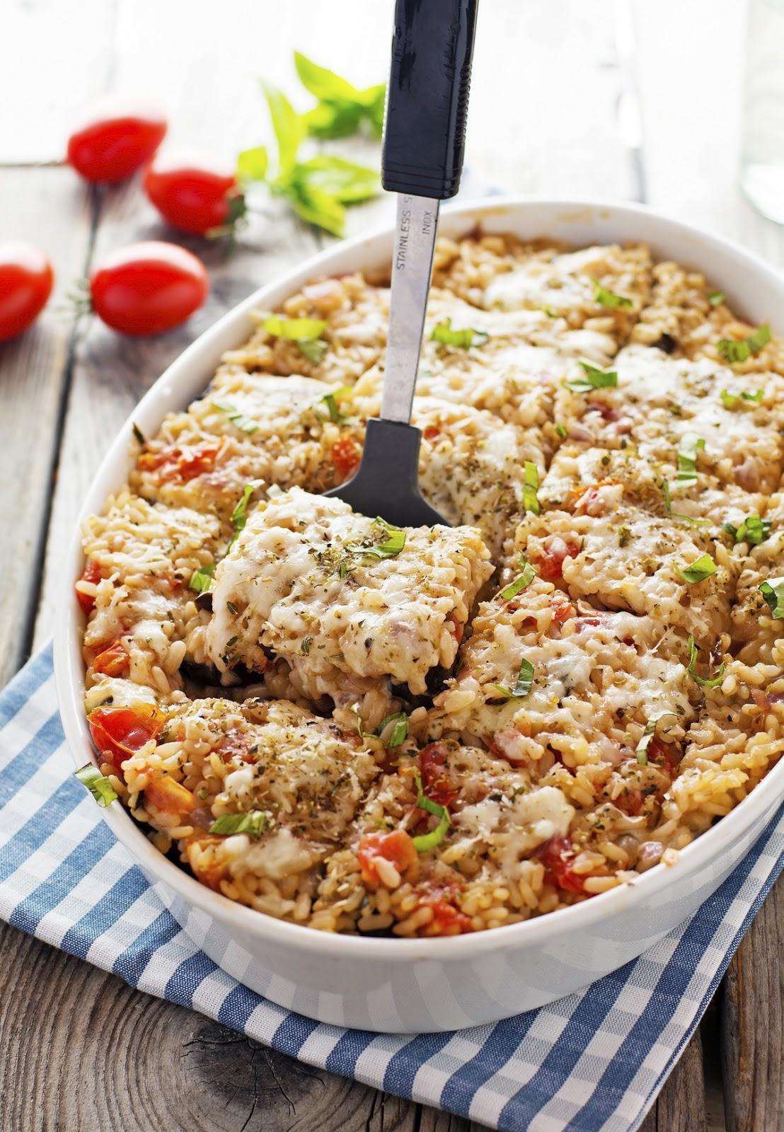 Eggplant Parm Rice Casserole