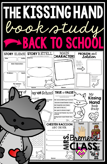Back to school read alouds for the Kindergarten, First Grade, and Second Grade classroom. Includes book list and book activities for You're Finally Here by Melanie Watt, David Goes to School by David Shannon, Chrysanthemum by Kevin Henkes, The Kissing Hand by Audrey Penn, The Recess Queen by Alexis O'Neill, and A Bad Case of Tattle Tongue by Julia Cook.