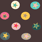 star bubbles and chocolate paper
