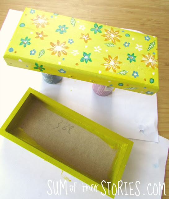 Floral Painted Wooden Box