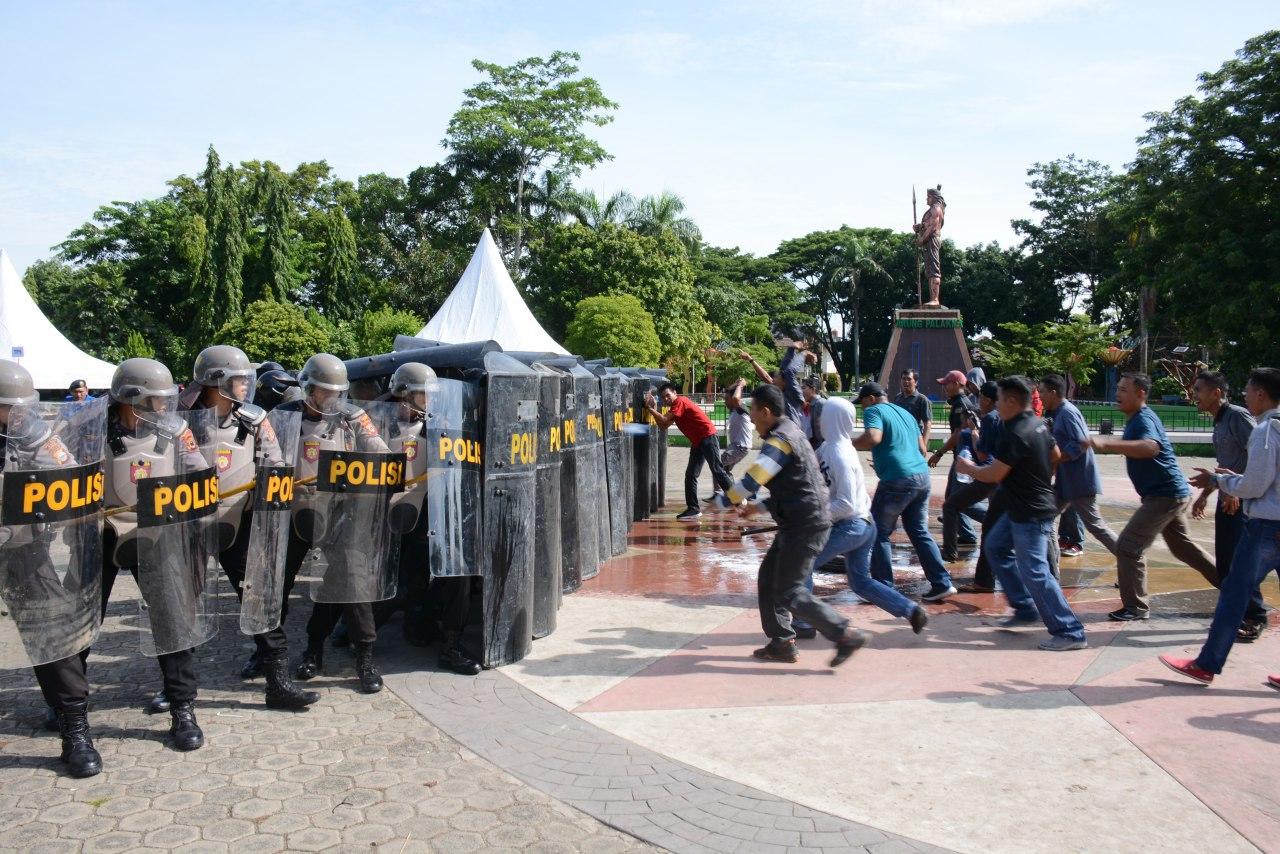 TNI-POLRI Bersama Pemkab Bone Laksanakan Skenario Simulasi Kesiapan Latihan Pam Pileg dan Pilpres di Wilayah Korem141/Tp
