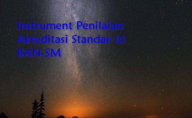 Instrument Penilaian Akreditasi Standar Isi BAN-SM