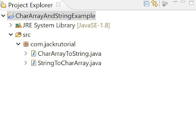 Project Structure convert Char Array to String And String to Char Array