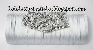 Tas Pesta Mewah Silver Elegant