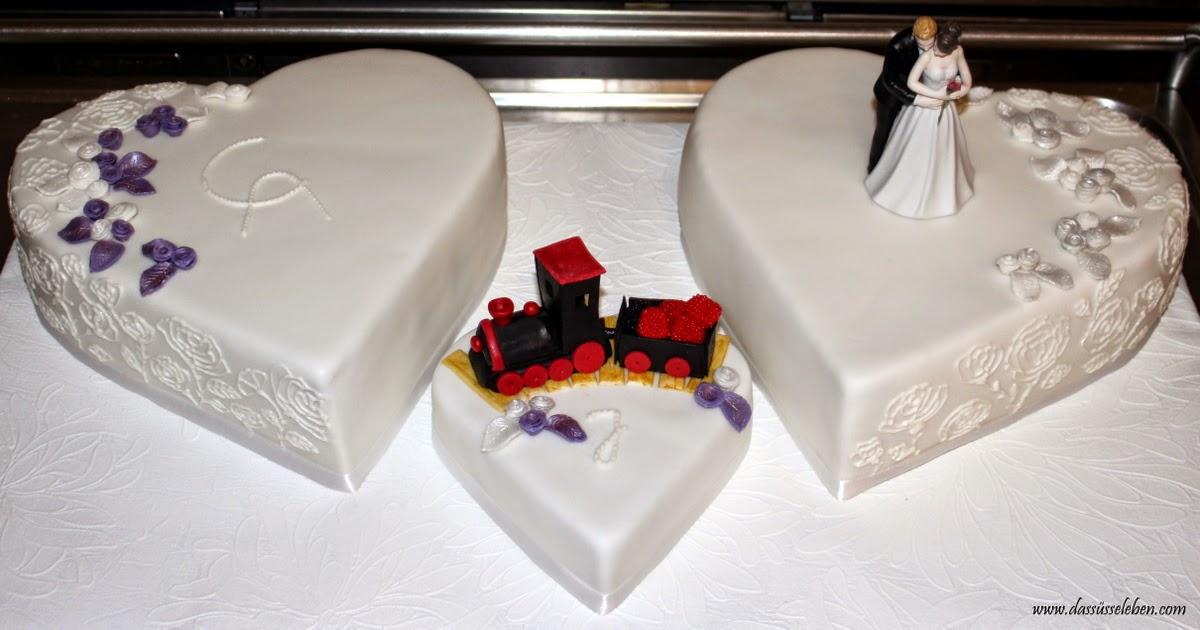 Rezept Hochzeitstorte Aus Herzen Mit Einer Eisenbahn Das Susse Leben