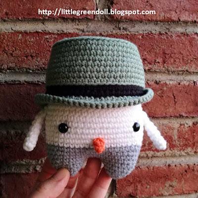 Simon the snowman Lalylala amigurumi