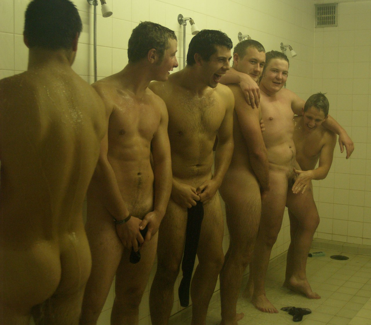 football players naked