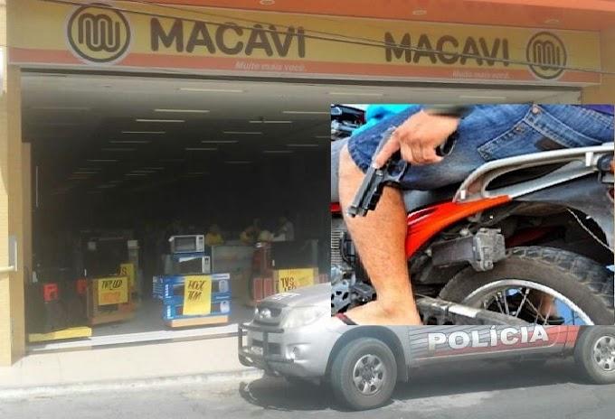 Guaraciaba-CE: Dupla armada assalta a loja Macavi