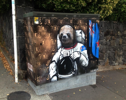 02-Astronaut-Sloth-Paul-Walsh-Decorating-Utility-Boxes-with-Art-in-New-Zealand-www-designstack-co