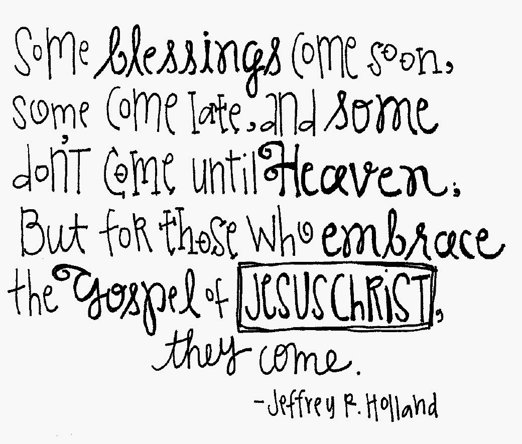 Blessings Quotes: Melonheadz LDS Illustrating: Quotes And Wordies
