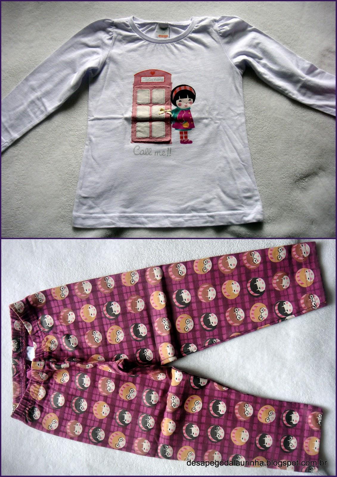 816311a99 Calça legging + blusa manga comprida. Tamanho 2. R 28