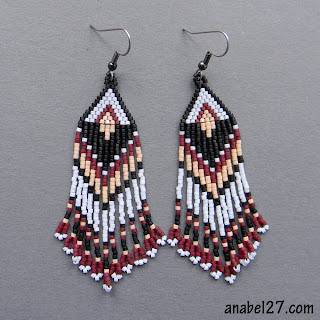 где купить украшения из бисера в этническом стиле сережки с бахромой