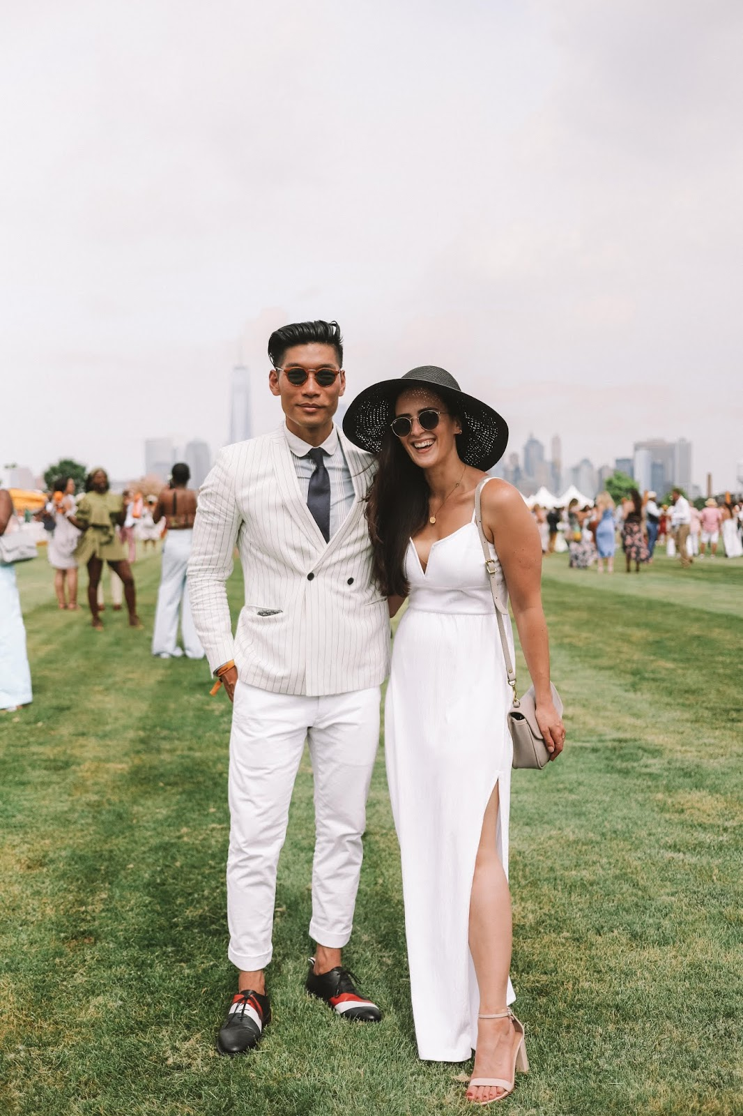 Couple's All-White Summer Outfit