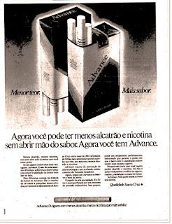 propaganda cigarros Advance - 1979; cigarros anos 70; propaganda de cigarros; década de 70; Oswaldo Hernandez;