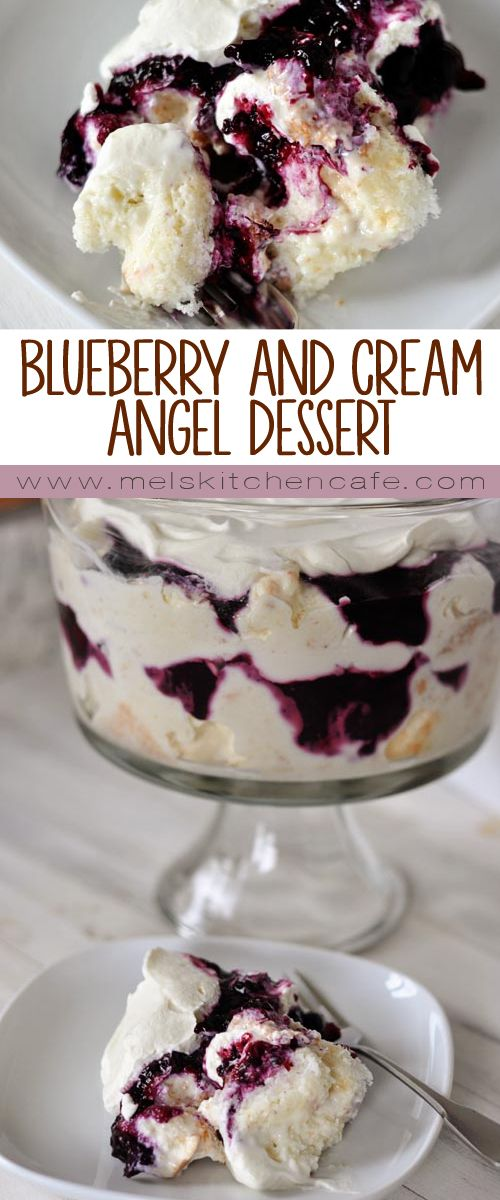 This heavenly blueberry angel food cake dessert is light and delicious! So simple to prepare, it is the perfect ending to any meal.